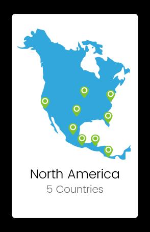 Graphic of North America
