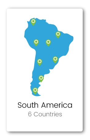 Graphic of South America