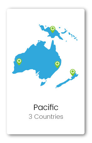 Graphic of Australia and the Pacific