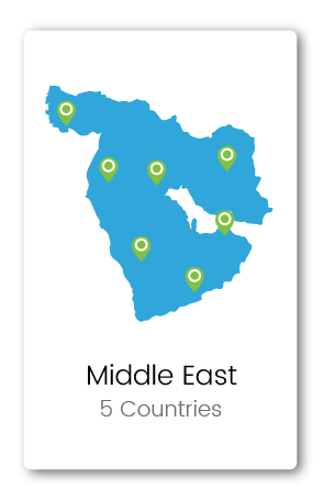 Graphic of Middle East