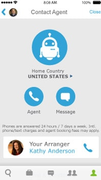 Cell phone showing phone call to agent